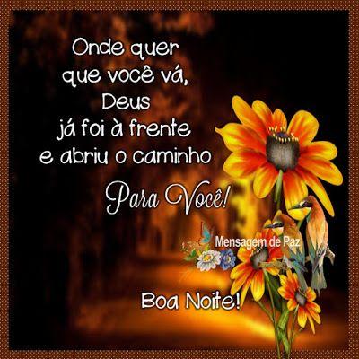 Mensagem de Deus boa noite