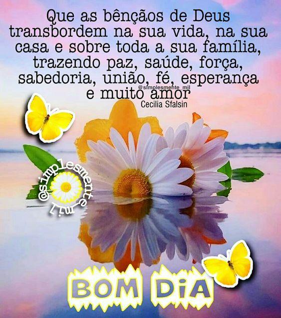 Bom dia com as bênçãos de Deus
