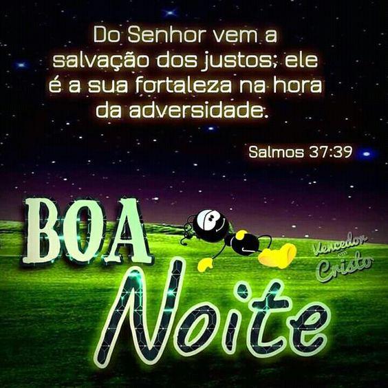 Salmos 37:39 mensagem de Boa noite para Whatsapp