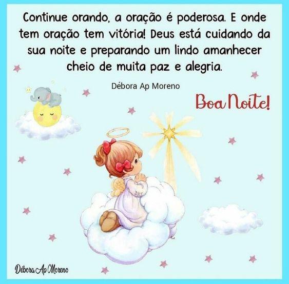 Continue orando boa noite