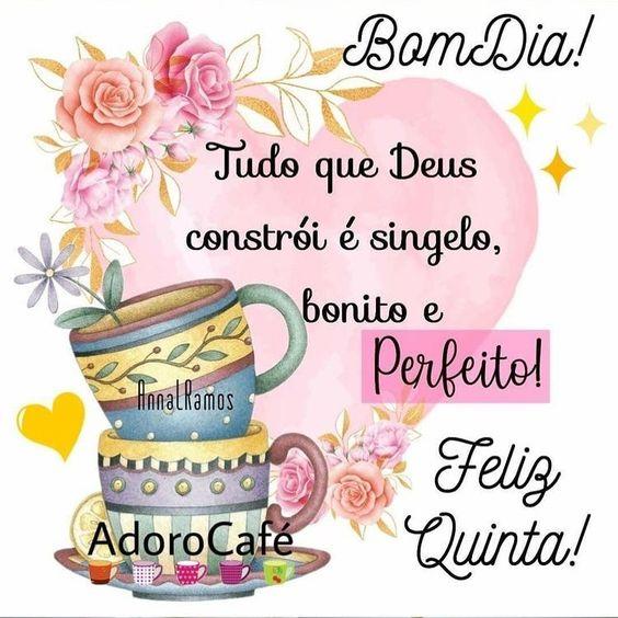 Bom dia com Deus feliz Quinta