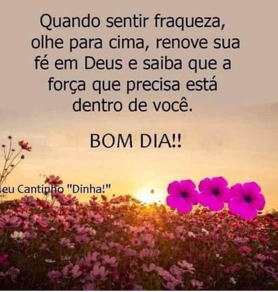Bom dia com a força de Deus