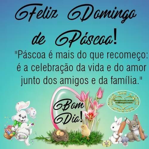 Bom dia Feliz Domingo de Páscoa