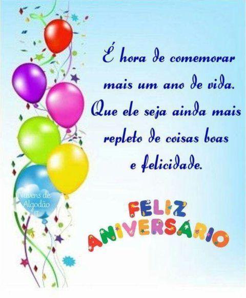 Feliz aniversário mais um ano de vida