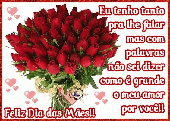 Feliz dia das mães com buquê de flores