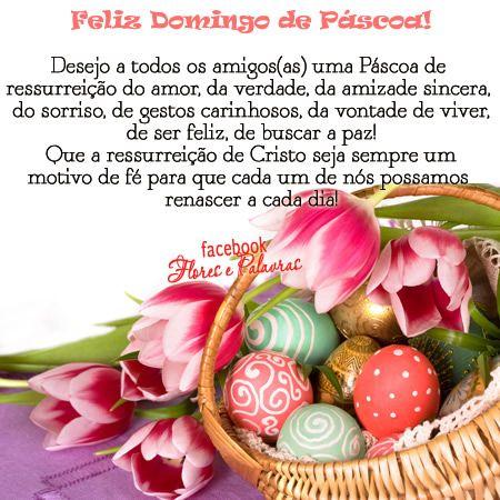 Mensagem de feliz Domingo de páscoa