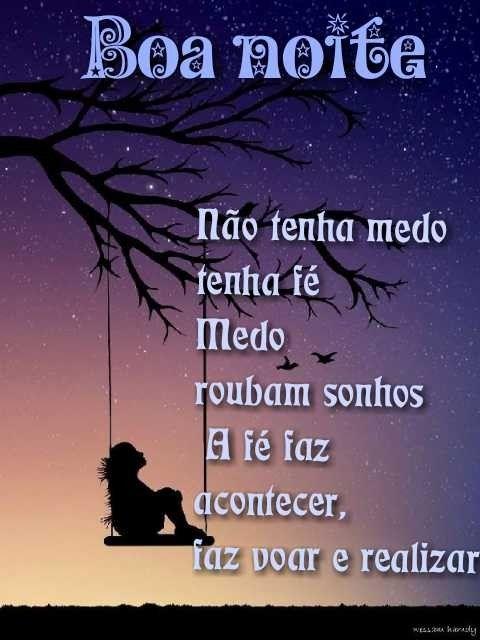 Boa noite, descanse bem e tenha lindos sonhos