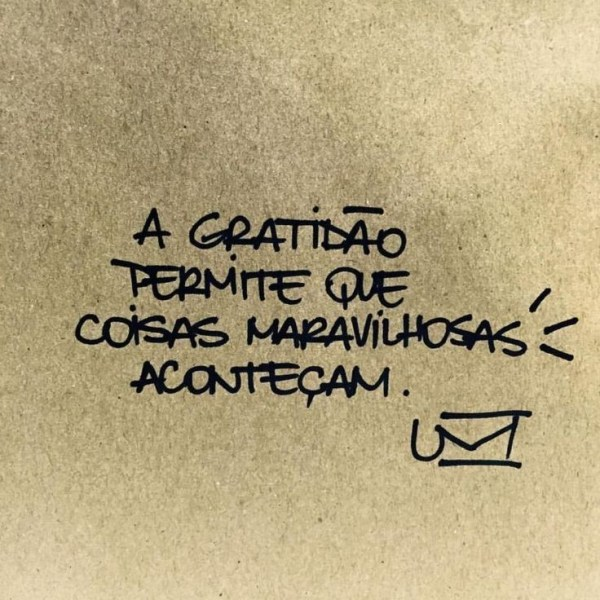 Gratidão permite maravilhas
