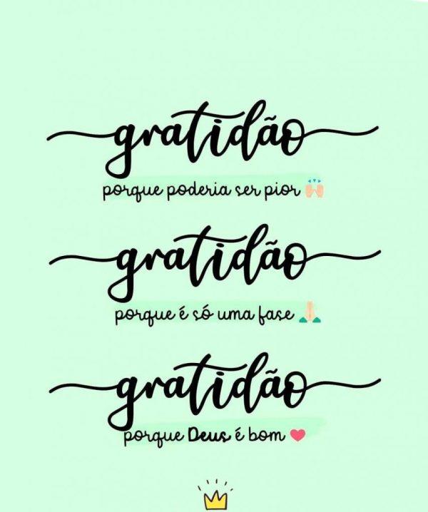 Gratidão por ser só uma fase