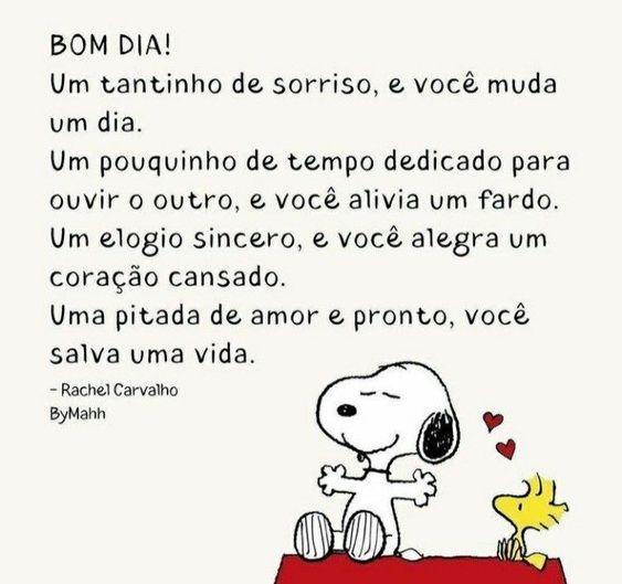 Bom dia Snoopy para Whatsapp
