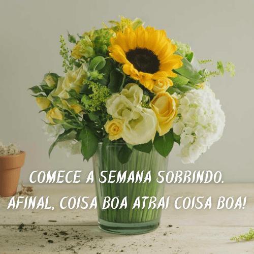 mensagem com flor de bom dia carinhoso