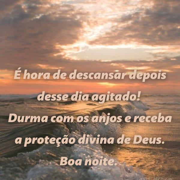 Frase de boa noite com a proteção de Deus