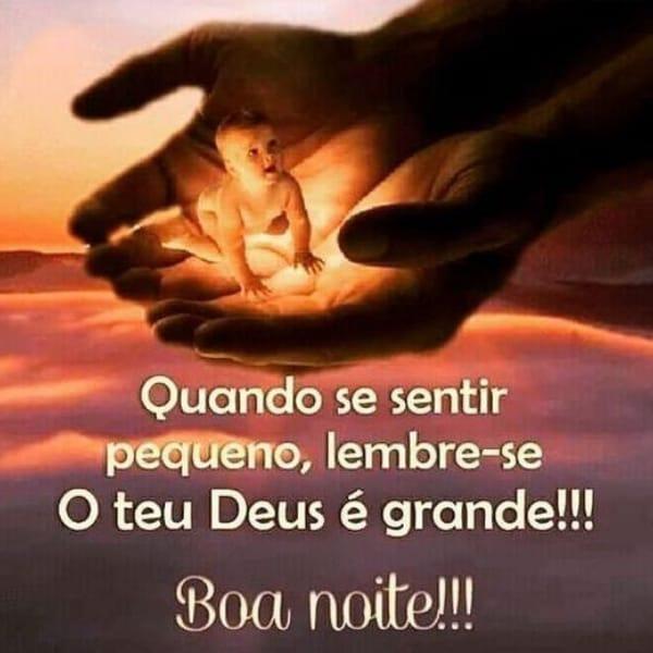 Boa noite com a grandeza de Deus