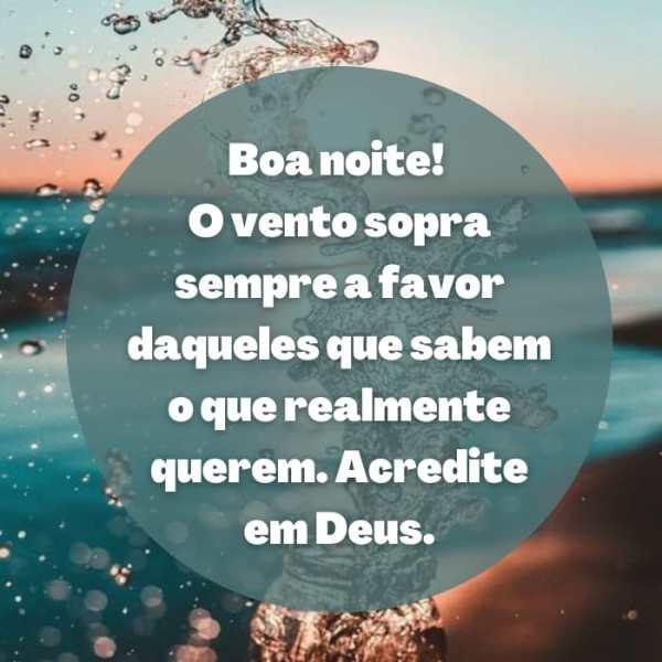 Boa noite de momentos com Deus