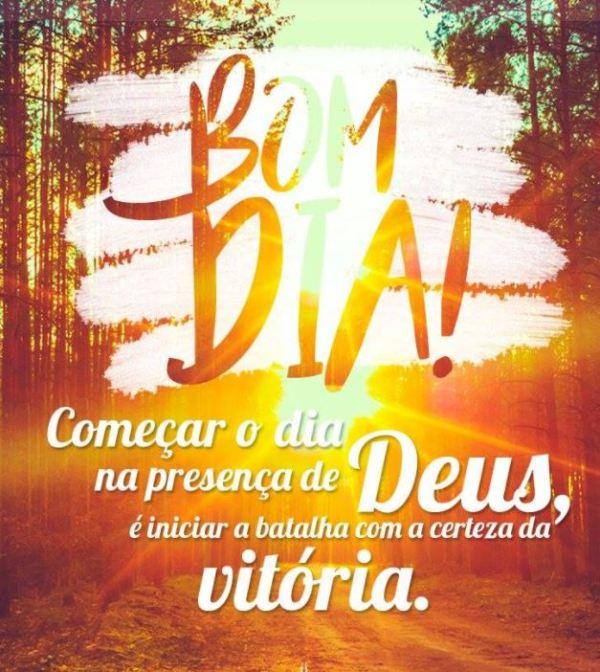 Bom dia com presença de Deus