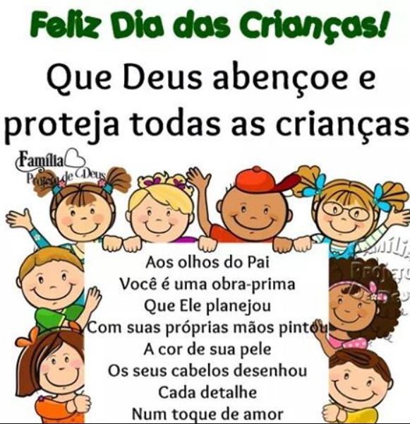 Feliz dia das crianças Deus abençoe