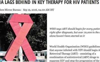 'India lags behind in key therapy for HIV patients' – IPH staff quoted in BangaloreMirror