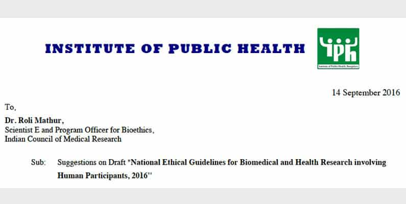 IPH Comments on ICMR