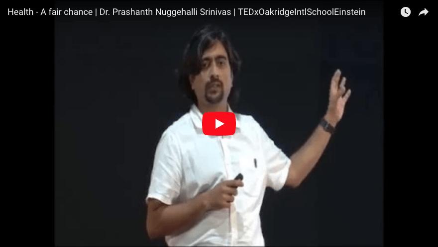 TEDx talk on health equity