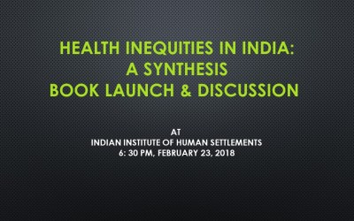 Health inequities in India: A synthesis book launch and discussion