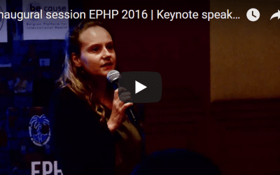 Inaugural session EPHP 2016 | Keynote speaker | Sara Van Belle