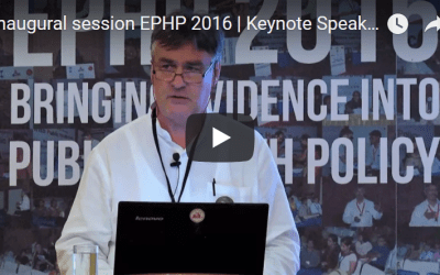 Inaugural session EPHP 2016 | Keynote Speaker | Bart Criel
