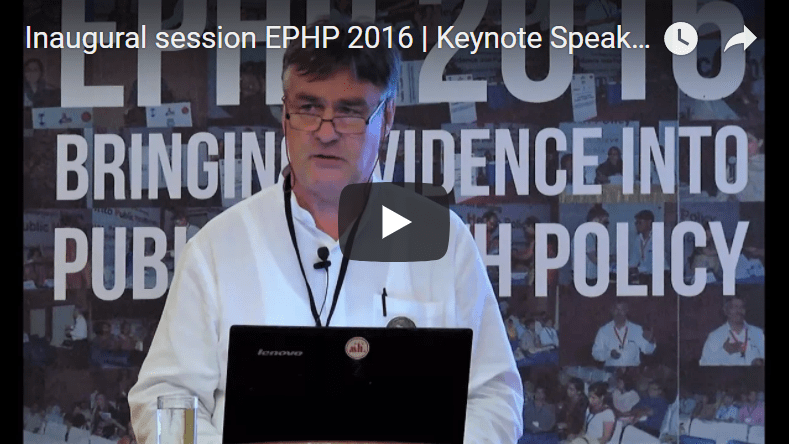 Inaugural session EPHP 2016 | Keynote Speaker | Bart Criel