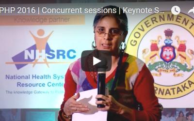 EPHP 2016 | Concurrent sessions | Keynote Speaker | Vandana Prasad