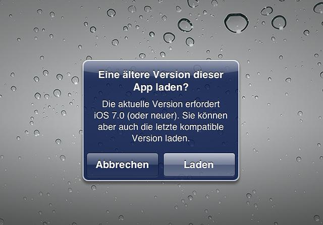 Letzte kompatible App Version auf einem iPhone oder iPad mit älteren iOS-Versionen installieren