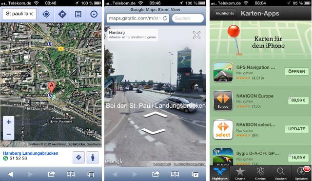 Google Streetview iPhone 5