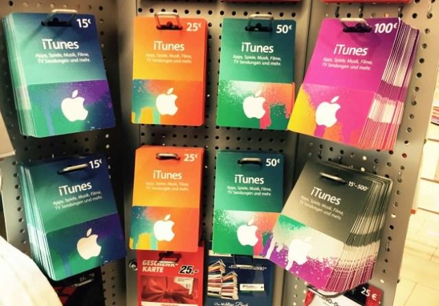 iTunes Guthabenkarten einlösen