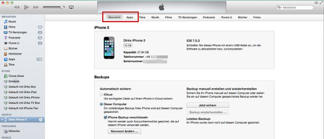 "In iTunes 11.1.2 fehlt die Rubrik ""Info"""
