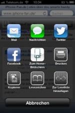Weiterleitung iOS 6 iPhone