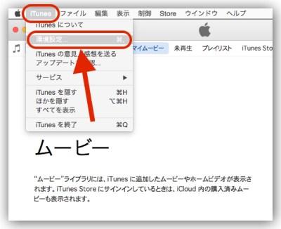 PC iTunes 環境設定