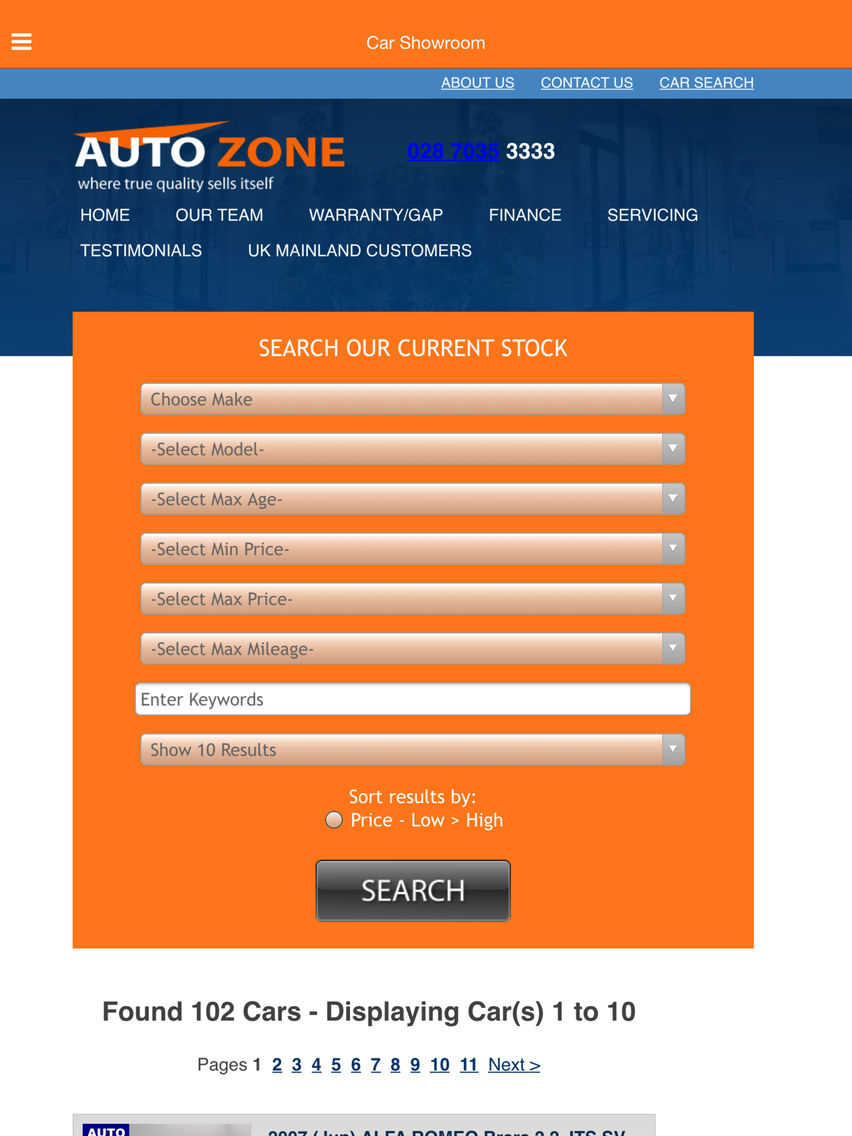 Autozone Cars Coleraine App for iPhone  Free Download