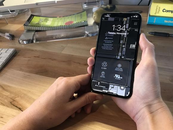 Ifixit Iphone X Wallpaper Iphone Xの中が丸見え!本体内部画像の壁紙をifixitが公開 Iphone Mania