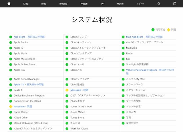Appleシステム状況 1