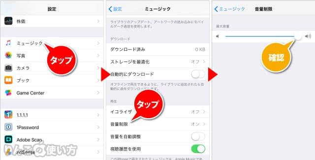 音声制限の確認をする方法 iPhone iPad