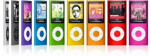 ipod nano coloris