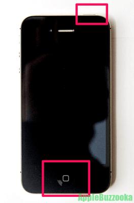 iPhone4s強制再起動