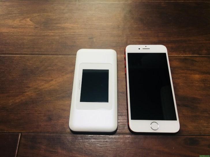 w06とiPhone7の外観比較