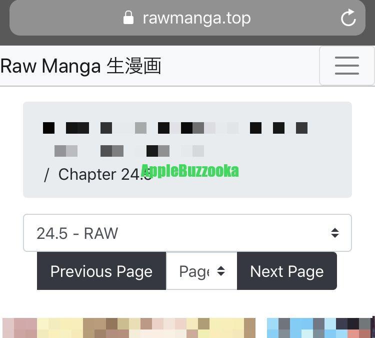 rawmangaビューワーの見方