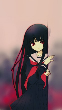 Cute And Simple Girl Wallpaper Papers Co Ae96 Hell Girl Enma Ai Illust 33 Iphone6