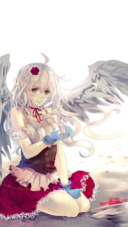 Anime Phone Wallpapers Girl With Car Papers Co Ah96 Angel Anime Girl Art Illust 33 Iphone6