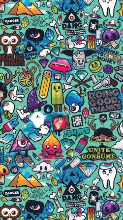 Cute Fall Wallpaper Iphone 6 Papers Co Aq61 Art Work Pattern Illustration Graffiti 33