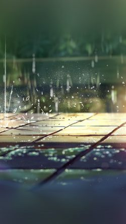 Fall Wallpaper For Iphone 6 Plus Papers Co Ar78 Rainning Illustration Anime Art Nature 33