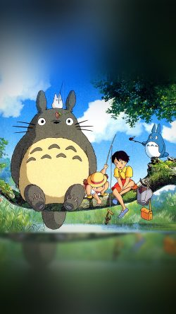 Fall Mobile Pattern Wallpapers Papers Co As73 My Neighbor Totoro Anime Art Illustration