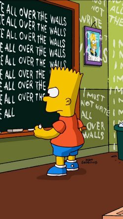 Batman Why Do We Fall Wallpaper Papers Co At91 Bart Simpson Simsons Catoon School Art
