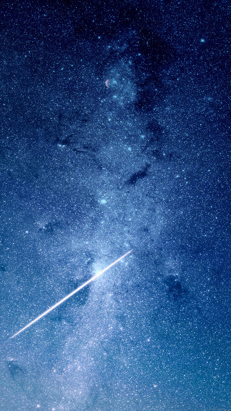 papers.co mo57 star night space blue galaxy nature 33 iphone6 wallpaper