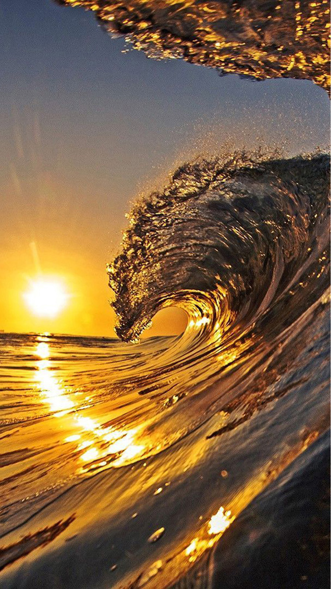 Cute Colorful Wallpapers For Iphone Sunset Waves Iphone 7 Wallpaper Iphone7wallpapers Co